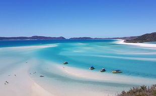 Une partie de la Grande Barrière de corail, au large du Queensland (Australie).