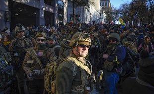 Des manifestants proarmes à Richmond, aux Etats-Unis, le 20 janvier 2020.