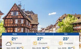 Météo Strasbourg: Prévisions du vendredi 23 août 2019.