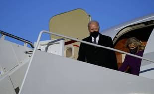 Joe et Jill Biden à Washington, mardi.
