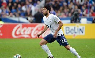 Clément Grenier avec les Bleus contre la Norvège le 27 mai 2014.
