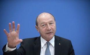 Le président roumain, Traian Basescu,le 31janvier 2014 à Berlin.