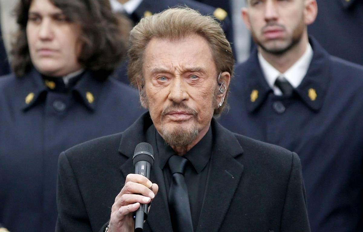 Johnny Hallyday, place de la République, le 10 janvier 2016  – SIPA PRESS