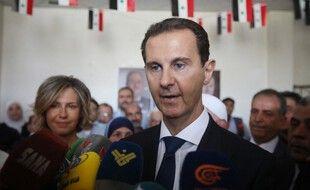 Bachar al-Assad a voté, ce mercredi, à Damas.