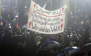 Des manifestants anti-islam à Dresde, en Allemagne, le 5 janvier 2014.