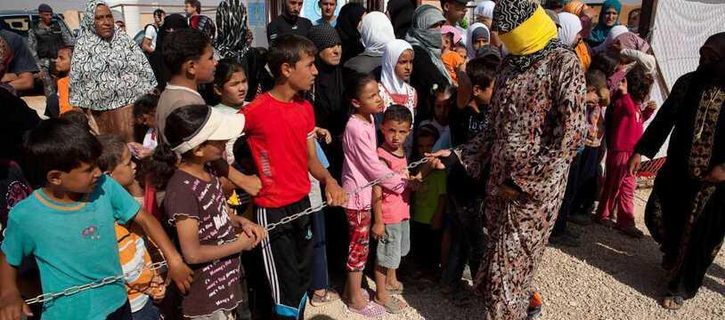Un grande nombre de réfugiés dans le monde viennent de Syrie comme ici au camp Za'Atari à la frontière entre la Jordanie et la Syrie.