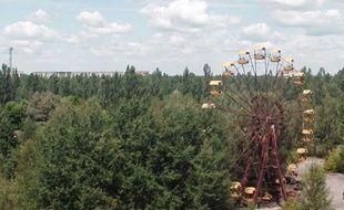 Capture d'écran de la vidéo des alentours de la centrale nucléaire de Tchernobyl, 30 ans après, filmés par le journaliste britannique Danny Cooke.