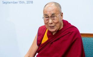 Le 14e Dalaï Lama, chef spirituel du Tibet, Tenzin Gyatso