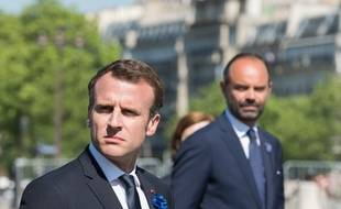 Emmanuel Macron et Edouard Philippe à Paris, le 8 mai 2018.