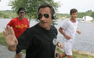 Nicolas Sarkozy à Wolfeboro, New Hampshire, le 12 août 2007.