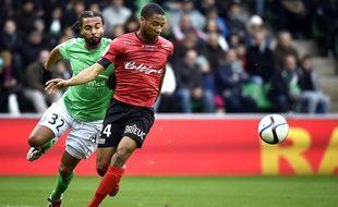 Marcus Coco et les Guingampais auront manqué de réalisme face à Saint-Étienne.