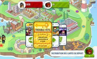 Mode de jeu principal : l'épreuve de force, une espèce de jeu de l'oie. Scribblenauts est un party game, mais pas que.