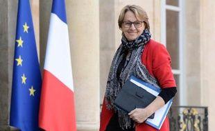 La ministre de la Fonction publique Marylise Lebranchu, le 19 février 2015 au Palais de l'Elysée