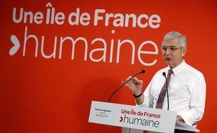 Claude Bartolone, candidat PS aux élections régionales en Ile-de-France, le 22 octobre 2015.