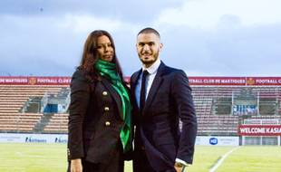 Baptiste Giabiconi avec Kasia Al-Thani