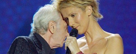 October 1st, 2003; Las Vegas, NV. USA; Singer CELINE DION + CHARLES AZNAVOUR/0701190951