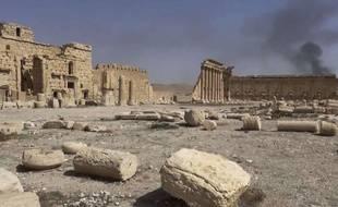 La cité antique de Palmyre en Syrie, filmée le 26 mai 2015.