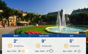 Météo Grenoble: Prévisions du jeudi 16 janvier 2020
