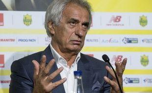 Vahid Halilhodzic lors de sa conférence de presse de présentation.