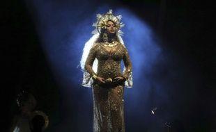 Beyoncé lors de sa performance hors norme aux Grammys 2017, le 12 février 2016.