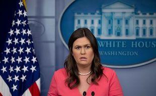 La porte-parole de la Maison Blanche Sarah Sanders, le 18 juin 2018.