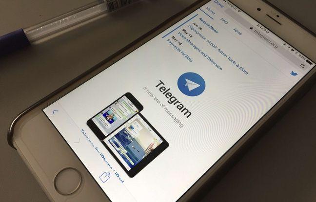 L'application Telegram sur mobile (illustration).