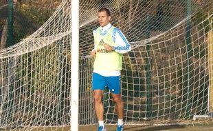 Benoît Cheyrou à l'entraînement.