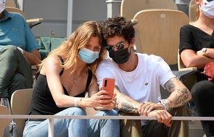 Constance Jablonski et Mathias Dandois, le 10 juin 2021, à Roland-Garros.