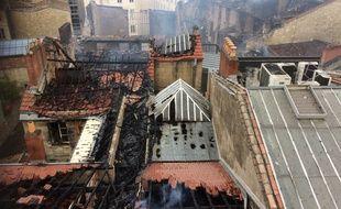 L'impressionnant incendie de la rue ferrère à Bordeaux, a détruit six immeubles.