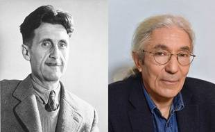 George Orwell (à gauche), Boualem Sansal pour a sortie de «2084» (droite)