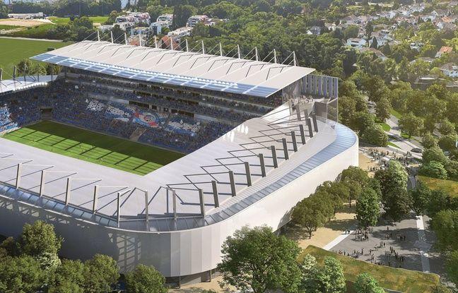 La tribune Sud du stade de la Meinau sera beaucoup plus haute que les autres.
