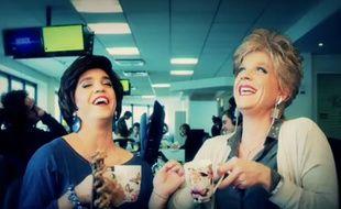 Catherine et Liliane dans le «Petit journal» de Canal+