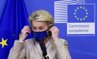 La présidente de la Commission européenne, Ursula von der Leyen, le 13 juillet à Bruxelles (Belgique).