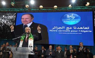 Abdelmalek Sellal était le directeur de campagne de Boutelfika lors de la précédente présidentielle, comme ici le 13 avril 2014.