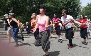 Lyon, le 10 juin 2018. Les répétitions pour le défilé de la biennale de la danse, prévu le 16 septembre, ont commencé.