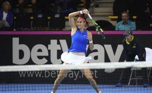 Caroline Garcia lors de la finale de Fed Cup le 12 novembre 2016.