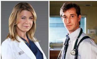 A ma gauche, Ellen Pompeo pour «Grey's Anatomy», et à ma droite, Noah Wyle pour «Urgences», c'est le match des séries médicales.