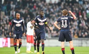 Les Girondins de Bordeaux lors de leur victoire contre le PSG en mars 2015.