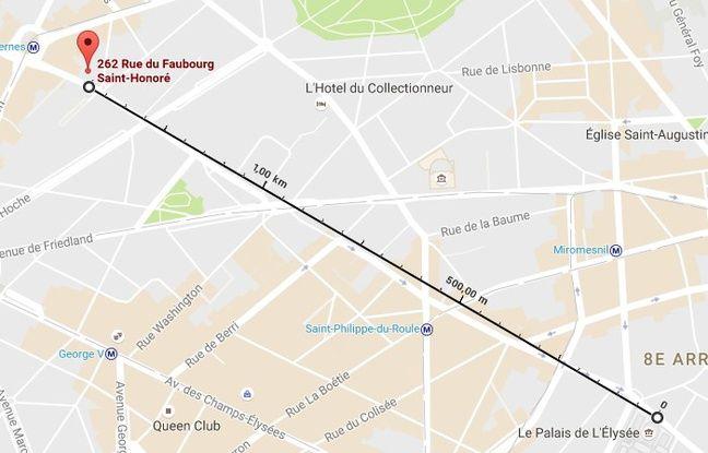 Le futur QG de campagne de Marine Le Pen est à un peu moins d'1,5km de l'Elysée