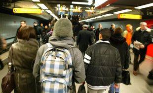 Illustration du métro lyonnais.