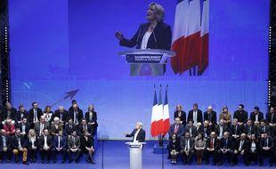 Le Congrès du Front national à Lille le 11 mars 2018