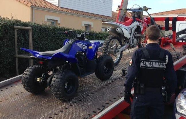 Outre la moto, un quad a été trouvé au domicile du suspect.