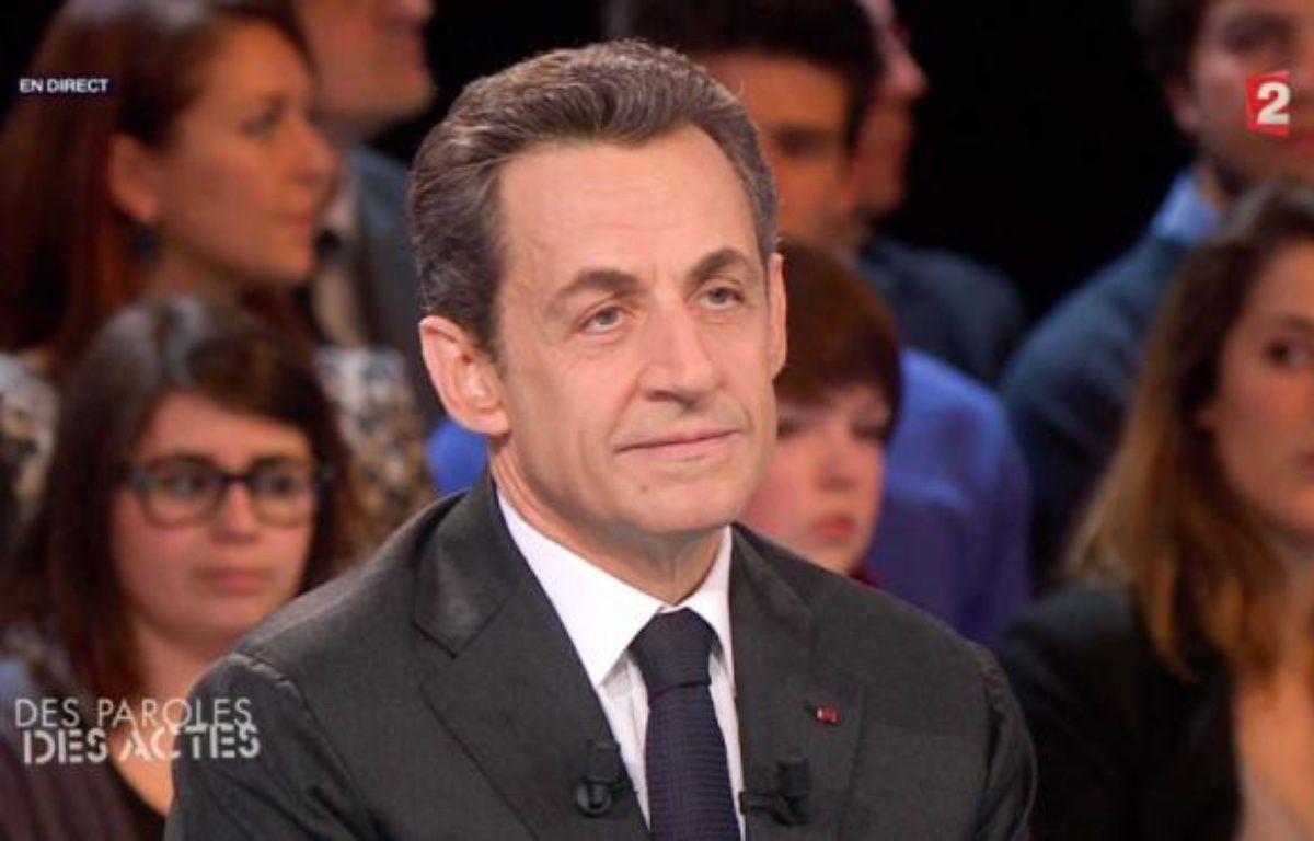 Nicolas Sarkozy, invité de l'émission «Des paroles et des actes», sur France 2, le 6 mars 2012. – AP/SIPA