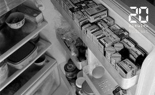 Illustration d'un réfrigérateur plein
