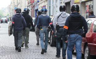 La brigade anticriminalité (BAC) de Rennes ici en intervention en marge d'une manifestation.
