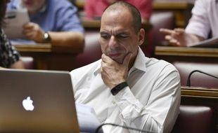 Yianis Varoufakis le 10 juillet 2015 au Parlement à Athènes