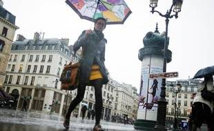 Pluie à Paris, le 30 mai 2013.