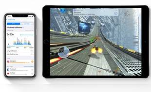 Avec iOS 12, Apple lance la fonction «screen time» qui indique le temps passé sur chaque app.