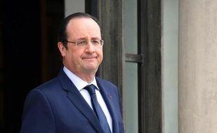 Francois Hollande à l'Elysée à Paris le 8 avril 2014