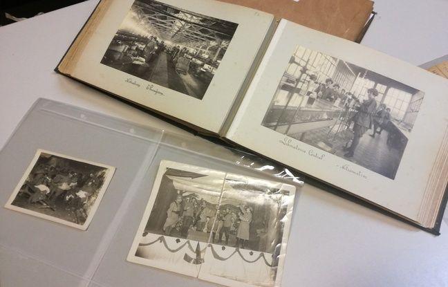 Dans les archives de Toulouse sur la Grande Guerre : en haut, des femmes en train de travailler à l'usine de la Poudrerie (ex-SNPE), en bas des images du théâtre aux armées.